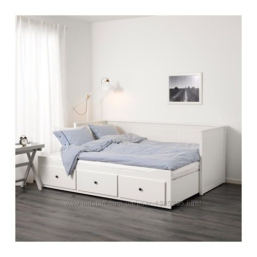 Доставка 7-14 днів ikea HEMNES разкладне ліжко с 3 ящиками Хемнэс