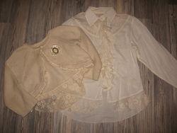 Шикарный комплект блуза и болеро Wojcik