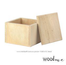 Шкатулка деревянная квадратная 2, 10х10х8 см