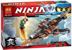 Конструктор NINJA, Ниндзяго Небесная акула BELA 10445 на 221 деталей.