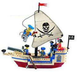 Конструктор Brick 304 Пиратский корабль, пираты, 188 деталей