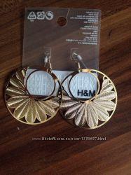 стильные cерьги H&M оригинал