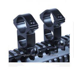 Кольца-крепления для оптического прицела на трубу 25. 4мм, вивер 21мм