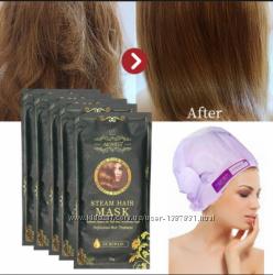 Паровая маска шапочка для поврежденных волос Steam hair mask, Aliver