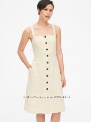 Льняное платье.  Платье льон, платье Gap сарафан из льна и хлопка, замеры