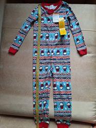 Пижама, теплая, хлопок, раздельная, цельная, оригинал Carters, Gymbore  США