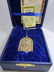 Икона Божией Матери Умиление серебро позолота оберег для дома