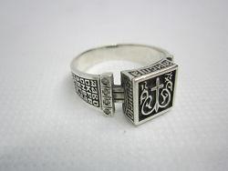 Кольцо перстень оберег молитва настоящее серебро