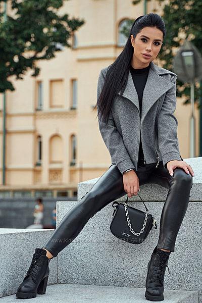 Кашемировое пальто-косуха