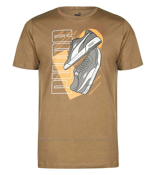 Фирменная мужская футболка Puma Sneaker QT, Оригинал