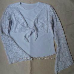 Блузка біла шкільна на дівчинку