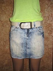 Легкая летняя джинсовая юбка dolce&gabbana - М размер