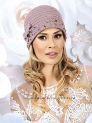 Шикарная женская шапка со стразами SASZENKA