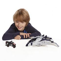 Самолет Марвел с мотоциклом и фигуркой. Hasbro