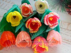 Мыло  подарочное тюльпан цветы мило ручная работа  hand made