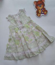 Летнее платье хлопок 9-12 мес от tu