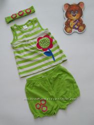 Комплект майка шорты повязка 6-9мес от lc waikiki турция