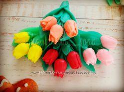 Мыло ручной работы тюльпанчики