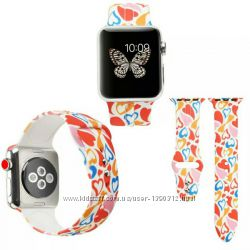 Мягкий силиконовый ремешок для apple watch 38-44 мм