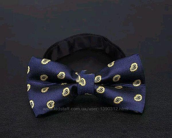 Стильный галстук-бабочка яркий принт регулируемый размер
