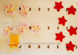 Вязанные бабочки и звездочки