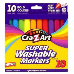 Смываемые маркеры фломастеры Cra-Z-Art Bold Washable Broadline Markers - 10