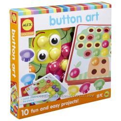 Alex Toys Первая детская мозаика пуговицы Discover Button Art