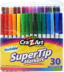 Смываемые маркеры фломастеры Cra-Z-Art Washable Super Tip Markers, 30  шт.