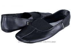 Чешки кожаные танцевальные черные MATITA