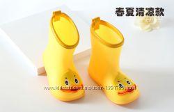 Резиновые сапоги Уточки желтые