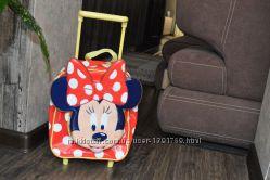 Красивый лаковый лётный чемодан-рюкзак Минни оригинал