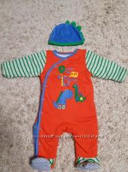Теплый человечек Mothercare размер  - 3-6месяцев