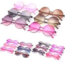 Безоправные солнцезащитные детские очки от солнца с волнистым краем