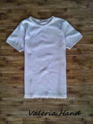 Детская белая базовая футболка для для девочки - Возраст 9-10 лет