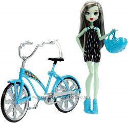 Кукла Monster High Boltin´ Bicycle Frankie Stein Doll & Vehicle
