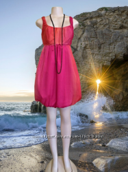 Шикарное новое красное мини платье principles petite, шелк 100, пог-44 см
