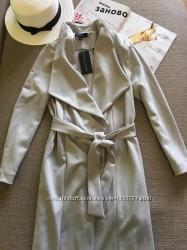 легкое пальто под пояс New look