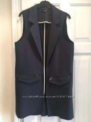 Брендовый пиджак жакет кардиган темно синий М плотный качественный