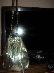 Золотая сумка Cavalli новая