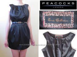 Черное платье фирмы Peacocks низ тюльпан офисное строгое но кокетливое