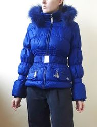 Синяя куртка 100  пух куртка пуховик ярко-синяя курточка электрик