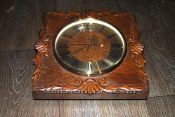 Часы кварцевые настенные деревянные антикварные Весна