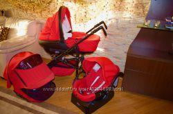 Продам коляску Chicco 3в1 красного цвета