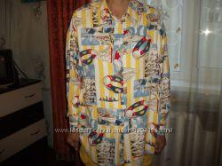 Эксклюзивная рубашка отличного качества вискоза, р. L46-48, Индонезия