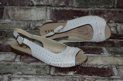 f9ab0afe0 Летние женские босоножки сандалиис перфорацией Viva Вива натуральная кожа
