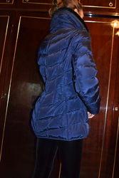 Фирменная куртка пуховик с высоким меховым воротником от Некст