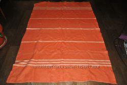 Одеяло оранжевое яркое теплое зимнее легкое