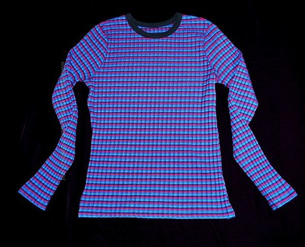 Реглан кофта синий яркий клетка DKNY S-M свитер стильный крутой