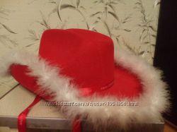 Шляпа новая новогодняя натуральный пух