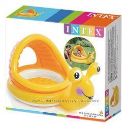 Детский надувной бассейн Intex 57124 Ленивая улитка надувное дно